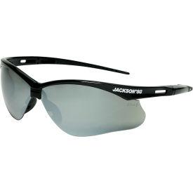 Nemesis™ Safety Spectacles, Black Frame Smoke Lens, 25688
