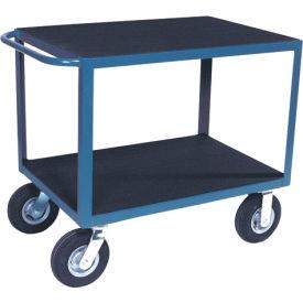 "Vinyl Matted Standard Handle Cart w/ 8"" Pneumatic Casters - 24 x 36"