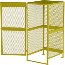 "Global™ Cylinder Storage Cabinet - Vertical Single Door 10 Cylinders - 33""W x 40""D x 71""H"