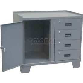 """Jamco Heavy Duty Security Cabinet JK236 - 1 Door, 4 Drawer, 36""""W x 24""""D x 33""""H"""