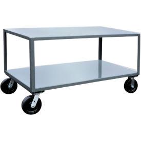 Jamco 2 Shelf Reinforced Mobile Table LW472 - 36 x 72 4800 Lb.