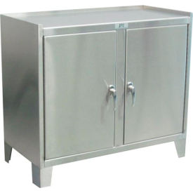 "Jamco Stainless Steel Cabinet ZP136 - 2 Door- 36""W x 18""D x 35""H"