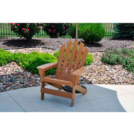 Jayhawk Plastics Cape Cod Adirondack Chair, Cedar