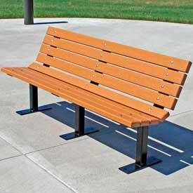 Contour Bench, Recycled Plastic, 4 ft, Cedar
