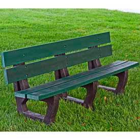 Petrie Bench, Recycled Plastic, 6 ft, Green
