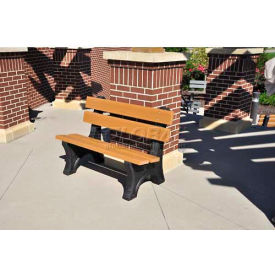 Colonial Bench, Recycled Plastic, 6 ft, Cedar