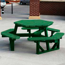 Frog Furnishings Recycled Plastic 6 ft. Hex Table Frame, Green