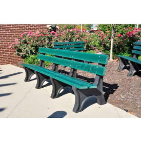 Colonial Bench, Recycled Plastic, 6 ft, Green