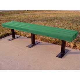 Trailside Bench, Recycled Plastic, 6 ft, Green