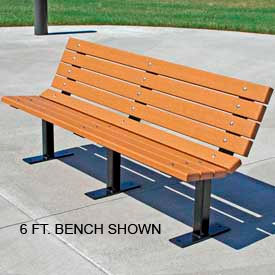 Contour Bench, Recycled Plastic, 8 ft, Cedar