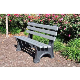 Central Park Bench, Recycled Plastic, 8 ft, Gray