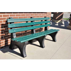Central Park Bench, Recycled Plastic, 8 ft, Green by