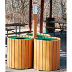 Recycling Center - Resinwood Slats Cedar 96 Gallon