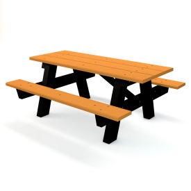 A-Frame Table, Recycled Plastic, 6 ft, Cedar
