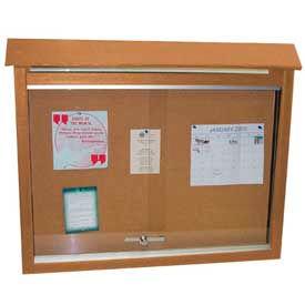 "Jayhawk Plastics Small Message Center, Recycled Plastic, One Side, No Posts, Cedar, 26""W x 20""H"