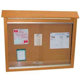 "Jayhawk Plastics Medium Message Center, Recycled Plastic, Two Sides, No Posts, Cedar, 36""W x 26""H"