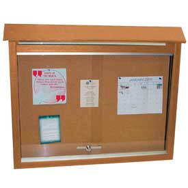 "Jayhawk Plastics Large Message Center, Recycled Plastic, Two Sides, No Posts, Cedar, 51""W x 36""H"