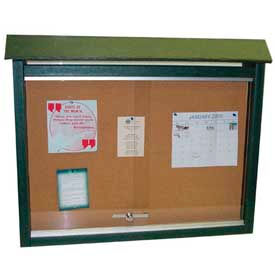 """Jayhawk Plastics Large Message Center, Recycled Plastic, Two Sides, No Posts, Green, 51""""W x 36""""H"""