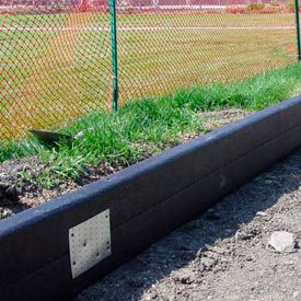 Recycled Plastic Railroad Ties 8 ft. Long, Black