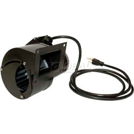 J&D Shaded Pole Blower VBM148PSC-PC, Square Opening, with Damper Door and Cord, 148 CM, 120V