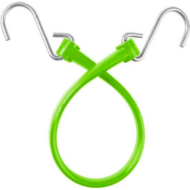 "The Perfect Bungee B18 13"" Bungee Strap W/Galvanized S Hook End (Overall Length 18""), Safety Green - Pkg Qty 6"