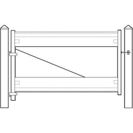 "Adjust-A-Gate II AG22006 Ranch Style Fence Gate Frame 2 Rail Kit 72""W x 28""H, White"