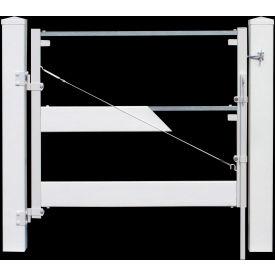 "Adjust-A-Gate II AG23006 Ranch Style Fence Gate Frame 3 Rail Kit 72""W x 38""H, White"
