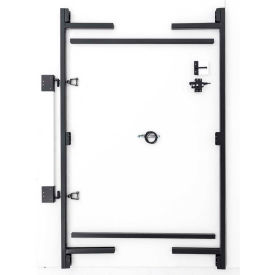 """Adjust-A-Gate AG36-3 Contractor Series Adjustable Steel Gate Frame 3 Rail Kit 36-60""""W x 60""""H, Gray"""