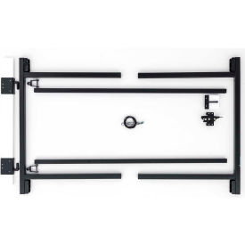 "Adjust-A-Gate G60-36 Original Series Adjustable Steel Gate Frame 2 Rail Kit 60-96""W x 36""H, Gray"