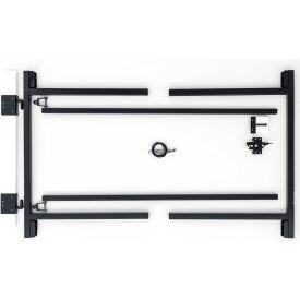 "Adjust-A-Gate G60-36 Original Series Adjustable Steel Gate Frame 2 Rail Kit 60-96""W x 36""H, Gray"