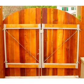 "Adjust-A-Gate AG60 Original Series Adjustable Steel Gate Frame 2 Rail Kit 60-96""W x 45""H, Gray"