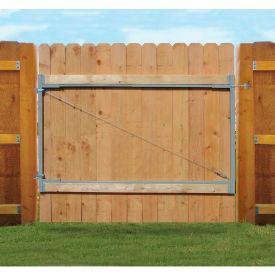 "Adjust-A-Gate AG72 Consumer Series Adjustable Steel Gate Frame 2 Rail Kit 36-72""W x 72""H, White"
