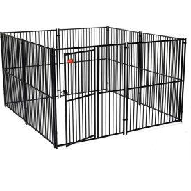 "Lucky Dog European Style Modular Dog Kennel 72""H x 120""W x 120""L, Black"