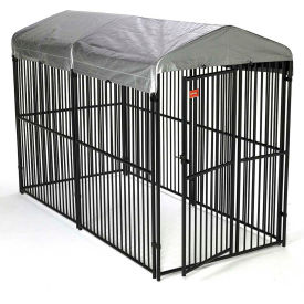 "Lucky Dog European Style Modular Dog Kennel With Cover 72""H x 60""W x 120""L, Black"