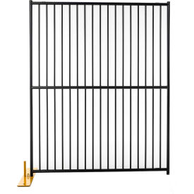 "Jewett Cameron Perimeter Patrol Euro Style Welded Tube 4 Panel 60""W x 72""H, Black Tiger Textured"