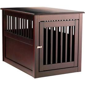"""Berkshire Comfort Espresso Pet Crate Den End Table 25-1/2""""W x 27-1/2""""H x 37""""L, Espresso"""