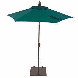 TrueShade® 7' Garden Parasol Umbrella - Push Button Tilt and Crank - Forest Green