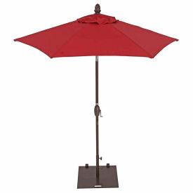 TrueShade® 7' Garden Parasol Umbrella - Push Button Tilt and Crank - Jockey Red