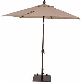 TrueShade® 9' Garden Parasol Umbrella - Push Button Tilt and Crank - Antique Beige