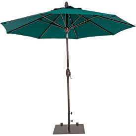 TrueShade® 9' Market Umbrella - Push Button Tilt - Forest Green
