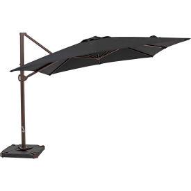TrueShade® 10' x 10' Cantilever Square Umbrella - Black