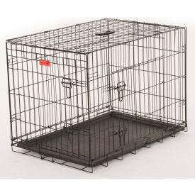 "Lucky Dog 2 Door Dog Training Crate 21""W x 24""H x 30""L, Black"