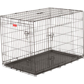 "Lucky Dog 2 Door Dog Training Crate 28""W x 31""H x 42""L, Black"