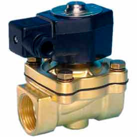 "Jefferson Valves, 3/4"" 2 Way Solenoid Valve For General Purpose s 24V AC Forged Brass Body"