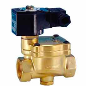 """Jefferson Valves, 2 1/2"""" 2 Way Solenoid Valve For General Purpose 24V DC Forged Brass Body"""