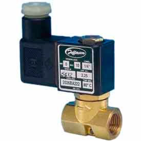 """Jefferson Valves, 1/4"""" 2 Way Solenoid MicroValve 120V AC Direct acting"""