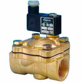 """Jefferson Valves, 1"""" 2 Way Solenoid Valve For General Purpose 12V DC Forged Brass Body"""