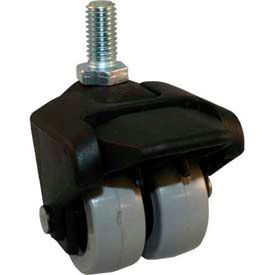 "Jacob Holtz X-CASTER 2"" Display Caster 3/8""-16 x 1-1/2"" Threaded Stem Brake TPR on Poly Core"