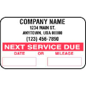 John Dow Service Reminder Stickers - 1000 Stickers/Roll - SC-1000