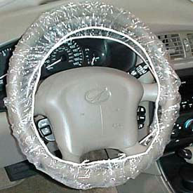 JohnDow Plastic Steering Wheel Covers, Clear 100 Covers/Case SWC-1 by